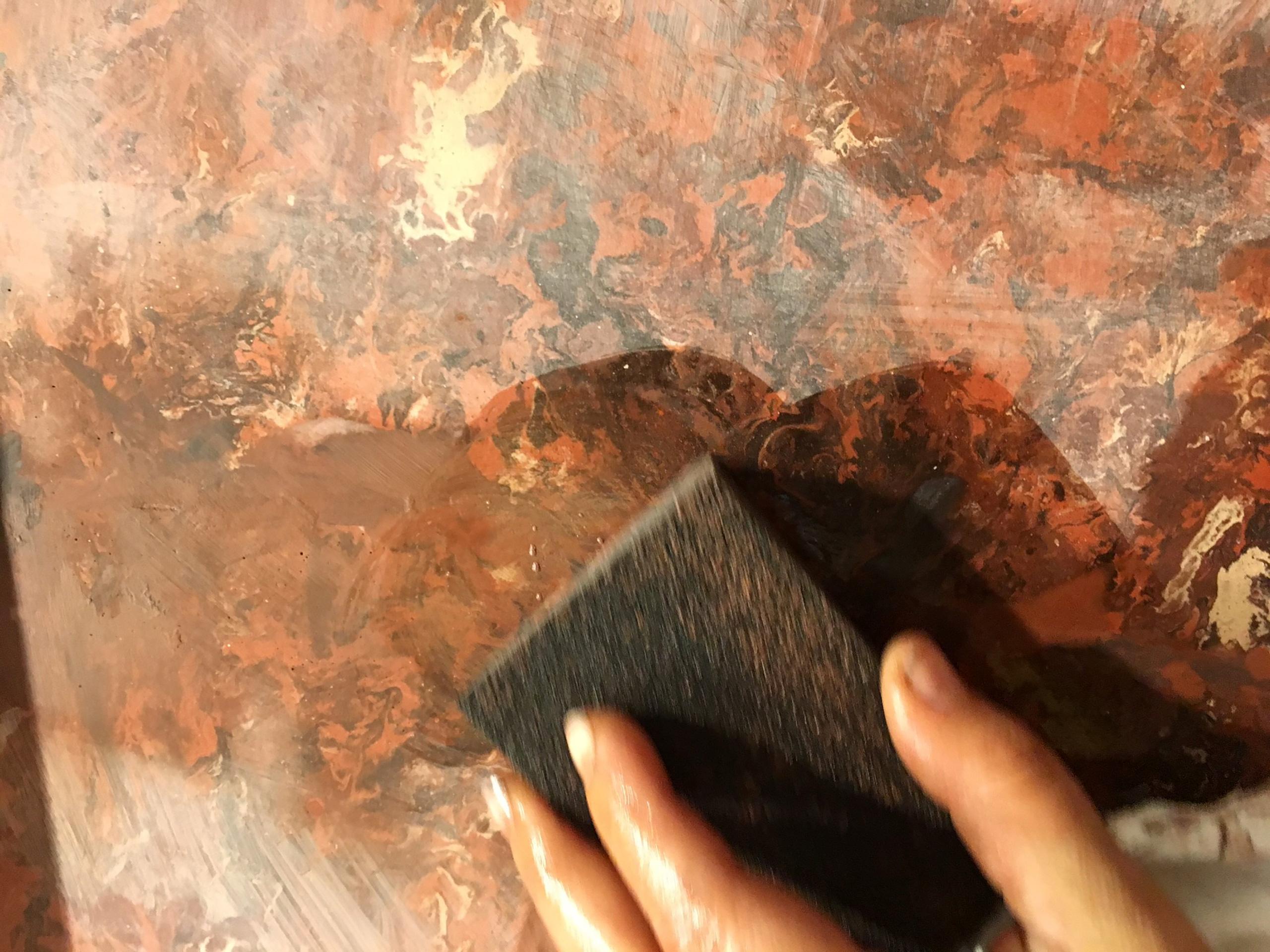 wet sanding plaster by Buccacio Sculpture
