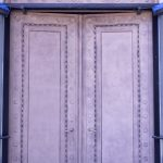 raw broze sandblasted doors