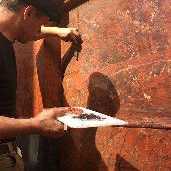plaster to scagliola repair by Jeff buccacio
