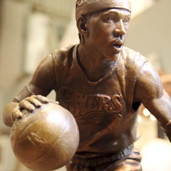 ©BUCCACIO BRONZE COMMISSIONED PORTRAIT OF ALLEN IVERSON