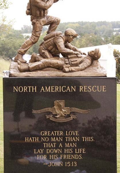 ©BUCCACIO BRONZE NORTH AMERICAN RESCUE MEMORIAL