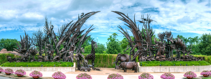 Animals Always at St Louis Zoo - Public sculpture