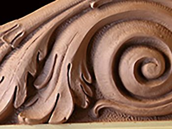 Clay sculpture corbal design by Jeff Buccacio