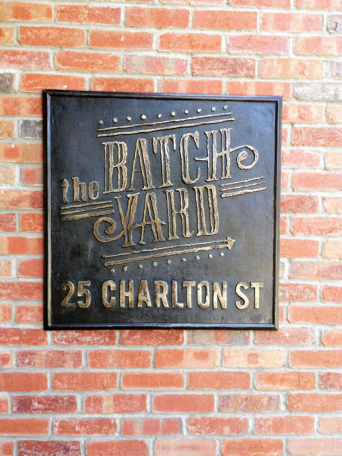 Custom Cast Bronze Plaque- The Batchyard, Everette, MA Luxury Apt's-Buccacio Sculpture Services and Foundry