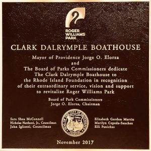 Dalrymple Boathouse Dedication Plaque with Seal-Providence,RI-BuccacioSculpture Services and Foundry