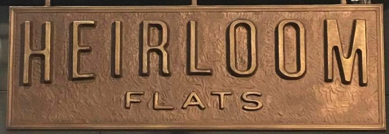 Custom Bronze Cast Plaque-Heirloom Flats-Buccacio Sculpture Servicesand Foundry