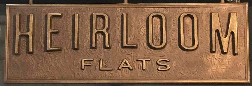 Custom Bronze Cast Plaque-Heirloom Flats-Buccacio Sculpture Servicesand Foundry