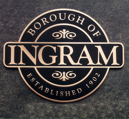Ingram-Cast Bronze Plaque-Buccacio Sculpture Services and Foundry