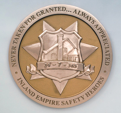 Inland Empire-Cast Bronze Plaque-Buccacio Sculpture Services and Foundry
