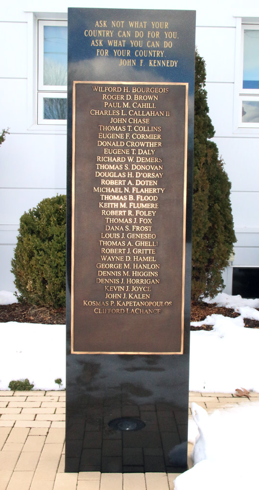 Metrowest Transit Authority Monument and Memorial, Framingham, MA-1 of two Cast Bronze Plaques-Buccacio Sculpture Services and Foundry