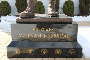 Vietnam Monument Framingham, MA-etched black granite-Buccacio Sculpture Services and Foundry