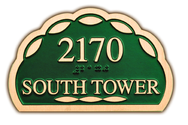 South Tower Cast Bronze Sign- Buccacio Sculpture Services and Foundry
