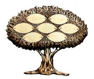"""Bronze Keepsake Tree 1-11""""/ 9"""" 4-7 Leaves"""