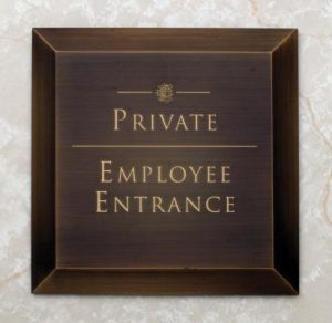 Employee Entrance Sign-Buccacio Sculpture Services